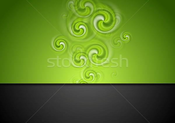 Lumineuses modernes tourbillon vecteur art résumé Photo stock © saicle