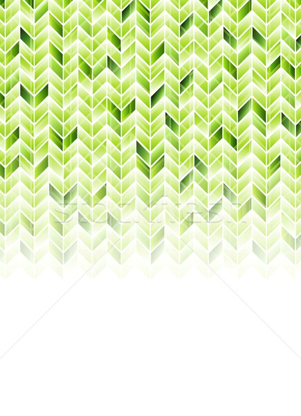 Green shiny geometric hi-tech background Stock photo © saicle