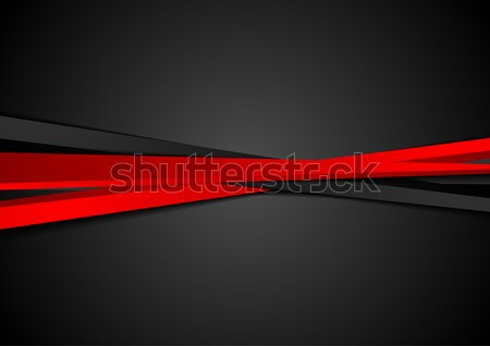 Dark corporate background with glow red arrow Stock photo © saicle