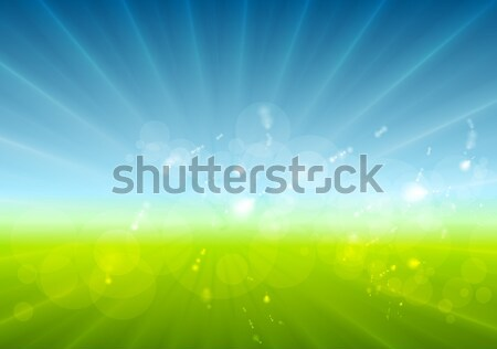 Abstract sunny landscape vector background Stock photo © saicle