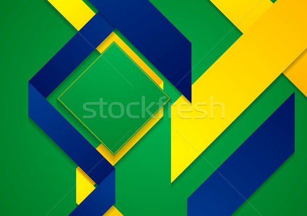 Vector bright background in Brazilian colors Stock photo © saicle
