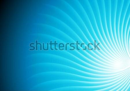 Stock fotó: Absztrakt · fényes · kék · örvény · vektor · görbe