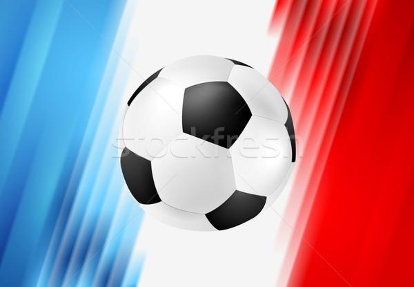 Euro calcio campionato Francia grafica vettore Foto d'archivio © saicle