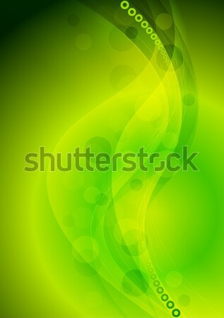 Abstract green soft waves vector background Stock photo © saicle