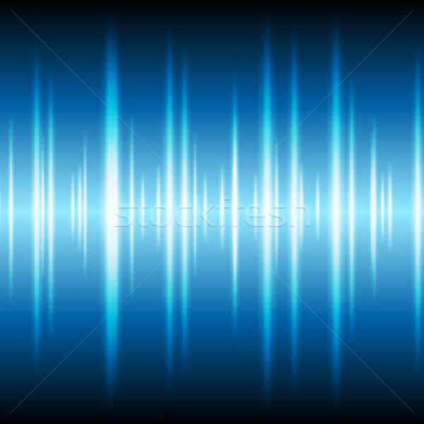 Blue glowing tech waveform equalizer background Stock photo © saicle