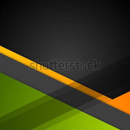 минимальный геометрический Tech вектора аннотация корпоративного Сток-фото © saicle