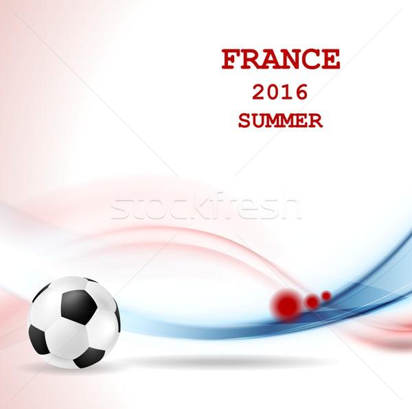 Euro futebol campeonato França gráfico vetor Foto stock © saicle