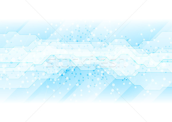 DNA blue molecules technology abstract background Stock photo © saicle