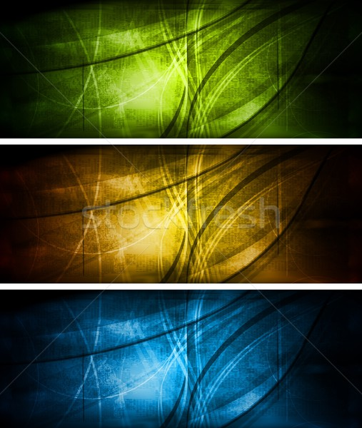 Bright textural banners collection Stock photo © saicle