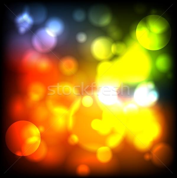 Bright iridescent lights Stock photo © saicle