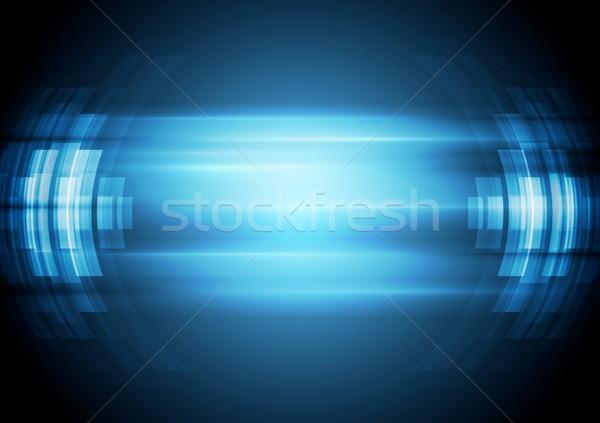 Abstrakten blau Vektor Design Illustration Business Stock foto © saicle