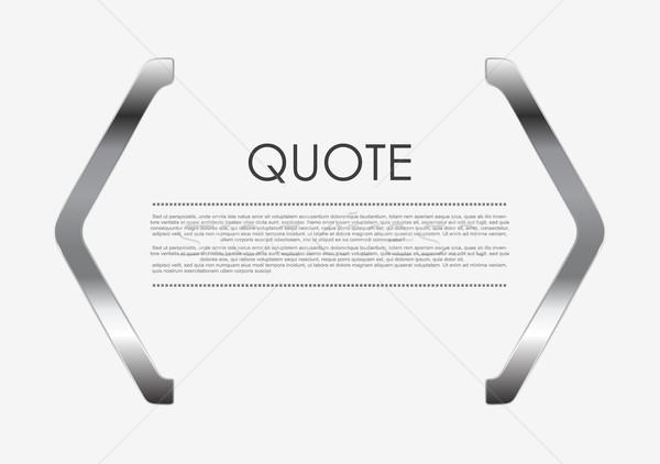 Citare metal abstract design vettore sfondo Foto d'archivio © saicle