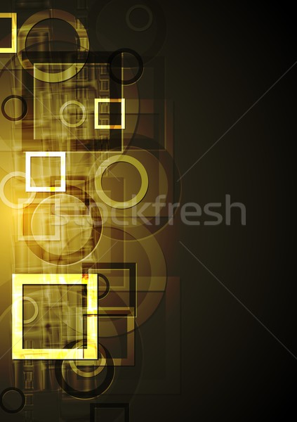 Abstract geometrical design. Vector background Stock photo © saicle
