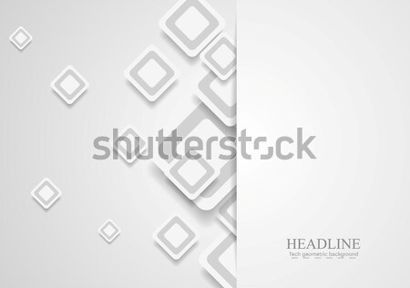 Tech corporate paper background with squares Stock photo © saicle