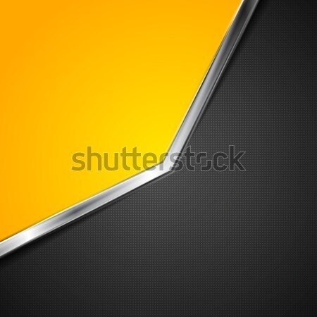 Contrast vector background with metallic stripe Stock photo © saicle
