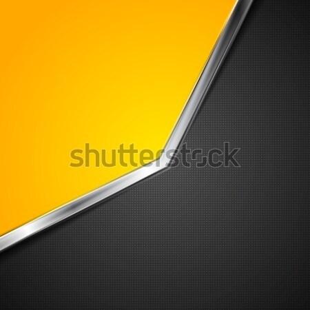 контраст вектора металлический полоса аннотация шаблон Сток-фото © saicle