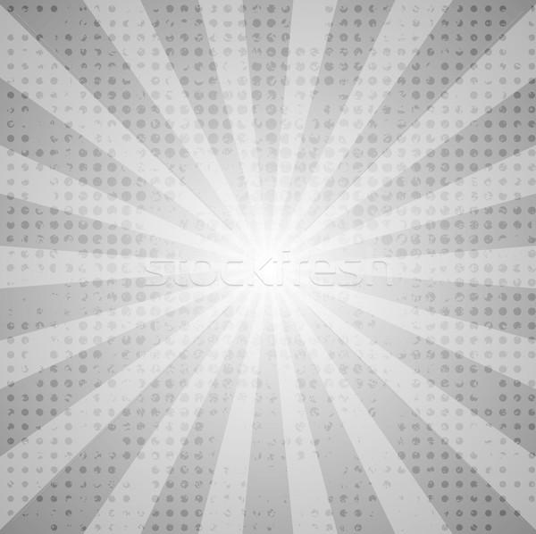 Grey abstract retro beams background Stock photo © saicle