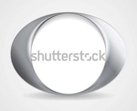 Abstract circle O shape logo design Stock photo © saicle