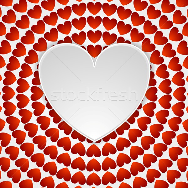 Red romance background with hearts Stock photo © saicle