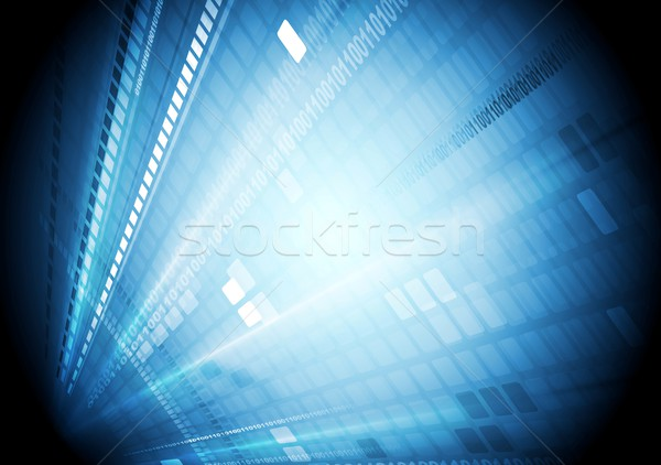 Blue shiny hi-tech motion background Stock photo © saicle