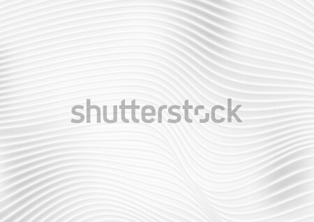 Abstract grey white wavy lines vector background Stock photo © saicle
