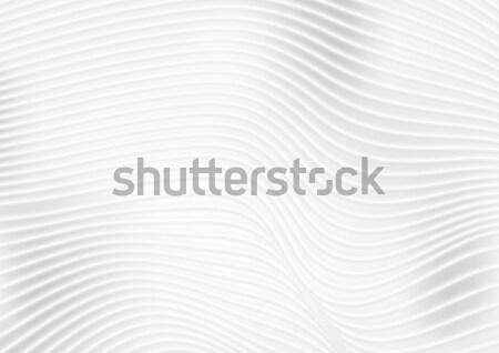 Resumen gris blanco ondulado líneas vector Foto stock © saicle