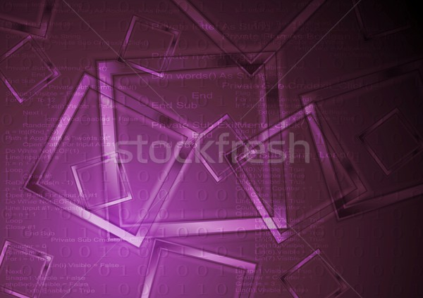 Abstract technology vector background Stock photo © saicle