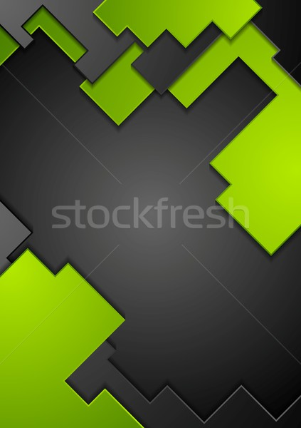 Green black contrast technology background Stock photo © saicle
