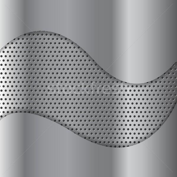 Soyut metal doku vektör dizayn arka plan sanat Stok fotoğraf © saicle