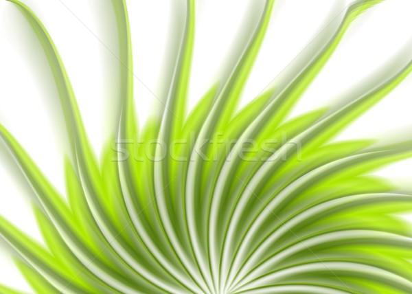 Verde turbinio ondulato abstract vettore elegante Foto d'archivio © saicle