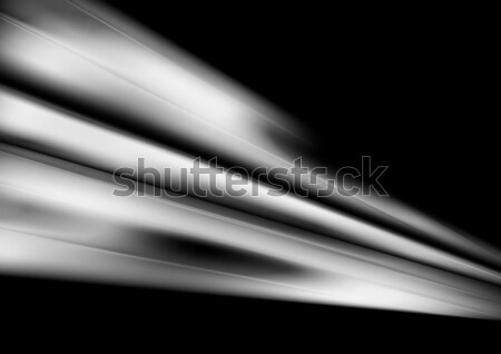 White smooth abstract stripes on black background Stock photo © saicle