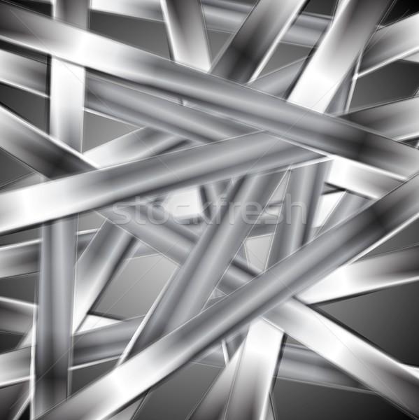Abstract vector metallic design Stock photo © saicle