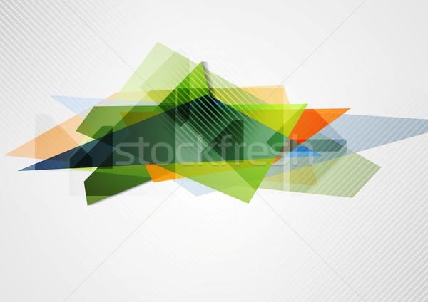 Abstrato vibrante geometria forma vetor projeto Foto stock © saicle