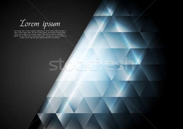 Blue shiny tech vector background Stock photo © saicle