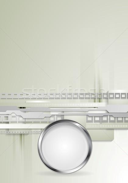 ストックフォト: グレー · ベクトル · メタリック · サークル · デザイン · テクスチャ