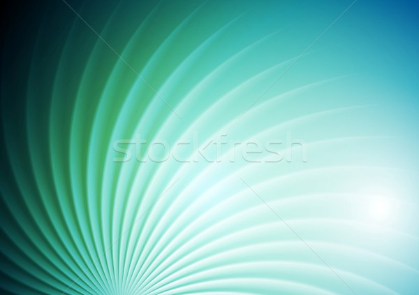 Abstrakten glänzend swirl Vektor blau grünen Stock foto © saicle