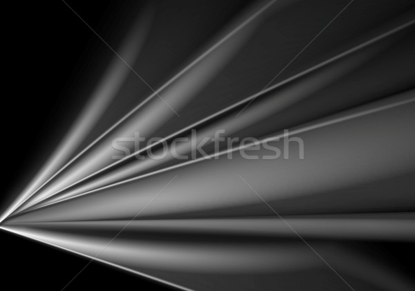 Dark abstract grey smooth waves background Stock photo © saicle