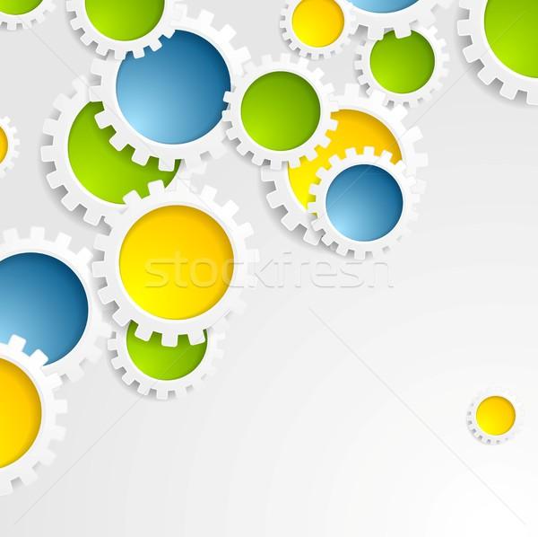 Coloré engins mécanisme résumé tech vecteur Photo stock © saicle