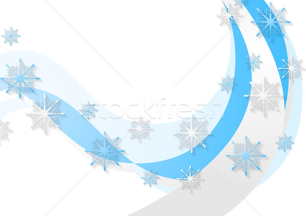 Abstract blue wavy Christmas background Stock photo © saicle