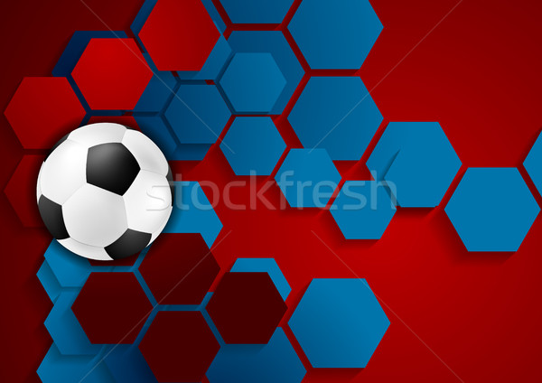 Abstract geometric football background Stock photo © saicle
