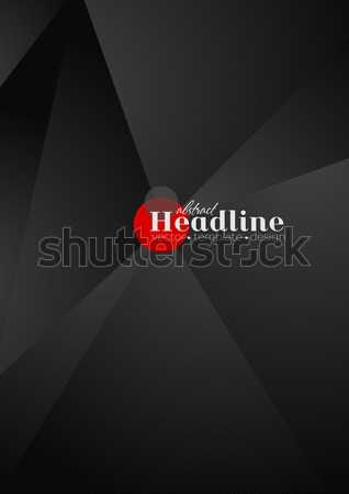 Red and black contrast tech arrows background Stock photo © saicle