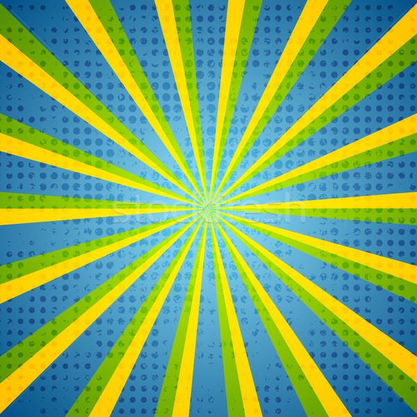 Retro grunge colorful beams background Stock photo © saicle