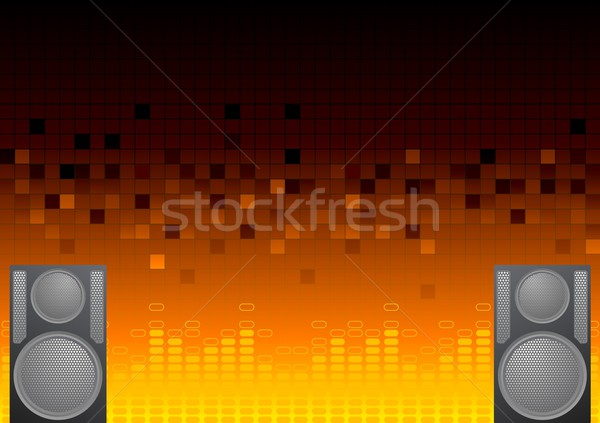 Abstract musical background Stock photo © saicle
