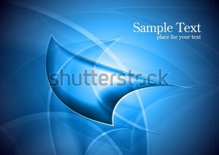 ярко абстракция синий дизайна Сток-фото © saicle