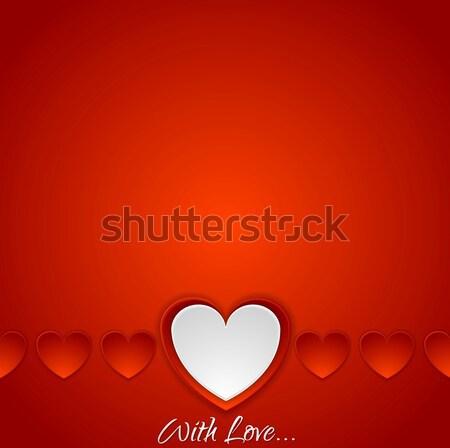 красный романтика сердцах Валентин день вектора Сток-фото © saicle