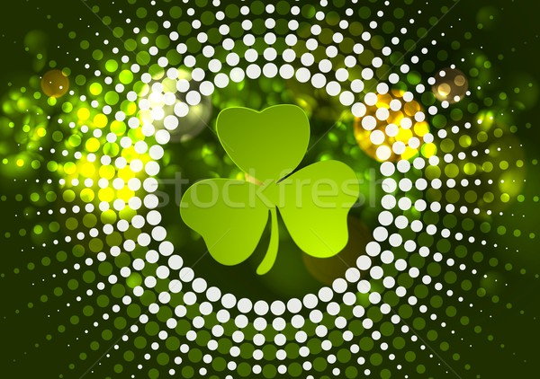 Green shamrock clover St. Patrick Day Stock photo © saicle