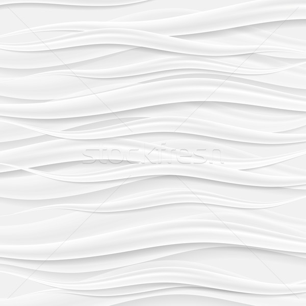 Absract grey waves vector background Stock photo © saicle