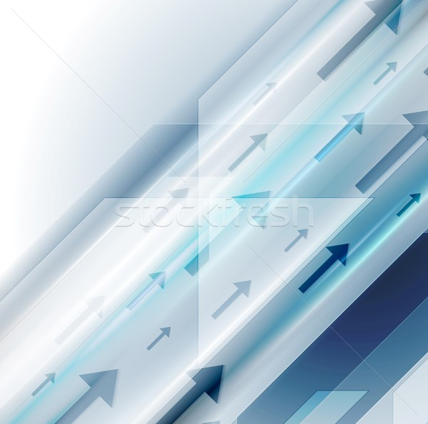 Bright blue hi-tech background with arrows Stock photo © saicle