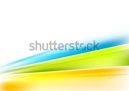 Absztrakt vállalati háttér tarka csíkok vektor Stock fotó © saicle