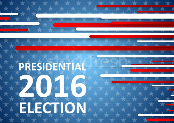 USA Presidential Election 2016 brochure template Stock photo © saicle